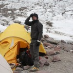 A pensive Arzan on Aconcagua