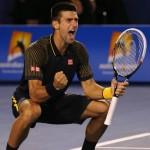 Novak Djokovic of Serbia wins a record third consecutuve Australian Open Tennis Title in 2013
