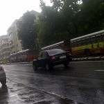 Sunday Afternoon Northbound Traffic halted on Peddar Road on a Tree fall in the Heavy Rains