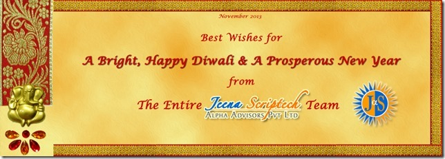 diwali new year greetings from jeena scriptech alpha advisors pvt ltd