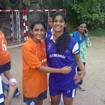 Thrilled Goalkeeper Captain Kunashni Parikh & Goal Equaliser Roshni Dadachanji