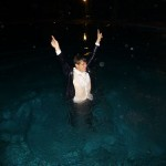 Magnus Carlsen celebrates in his Chennai Hotel Swimming Pool after becoming World Chess Champion