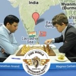 Defending World Champion Anand vs Challenger Carlsen in Chennai battling it out for the World Chess Champion Crown