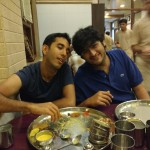Nephew Kaizad & Son Varun yet wanting to eat more at Thaker Bhojnalay !