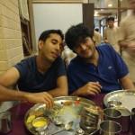 Nephew Kaizad & Son Varun yet wanting to eat more at Thaker Bhojnalay !