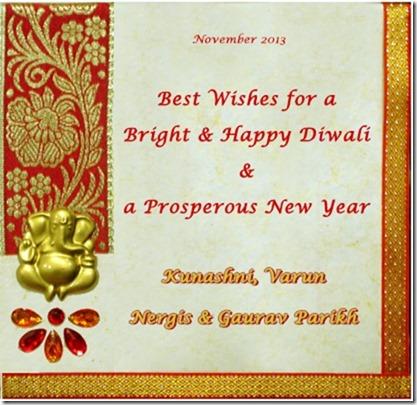 Diwali & New Year Greetings from the Parikhs – Gaurav's Blog